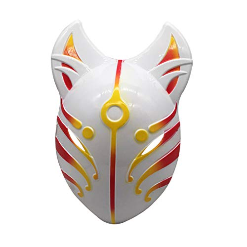 YangYong Fox Full Face Cosplay Mask, Large Size Costume Masks for Kids and Adults (red-Yellow)