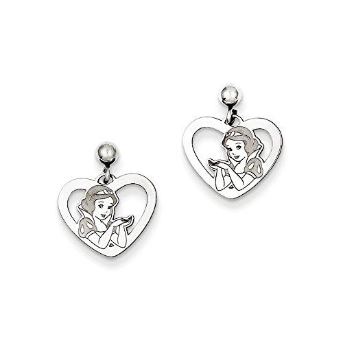Dangle Disney Earrings (Roy Rose Jewelry Roy Rose Jewelry Sterling Silver Disney Snow White Heart Dangle Post Earrings)