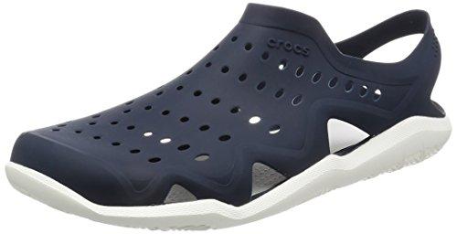 Crocs Swiftwater Wave, Zapatos plano para hombre Azul (Sea/Blue/White/Strap)