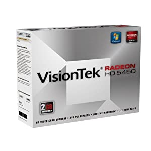 VisionTek Radeon 5450 2GB DDR3 (DVI-I, HDMI, VGA) Graphics Card - 900356