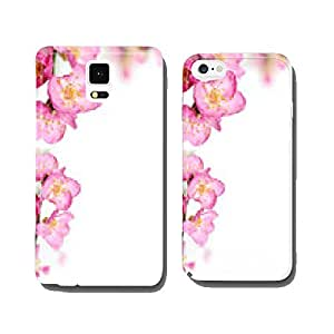 peach flowers frame cell phone cover case Samsung S6