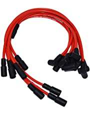 A-Team Performance 8.0mm Red Silicone Spark Plug Wires SBC 1996-2003 Compatible With Chevy GMC Truck SUV 5.0L 5.7L 5700 350 Voretc