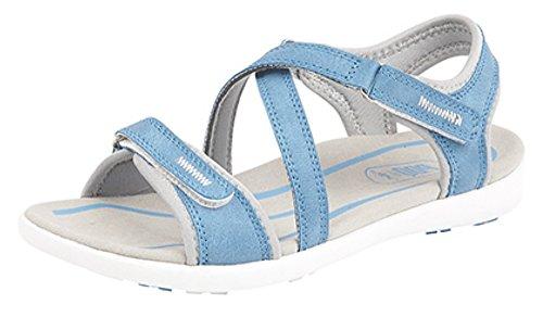 PDQ - Sandalias de vestir de Material Sintético para mujer Azul