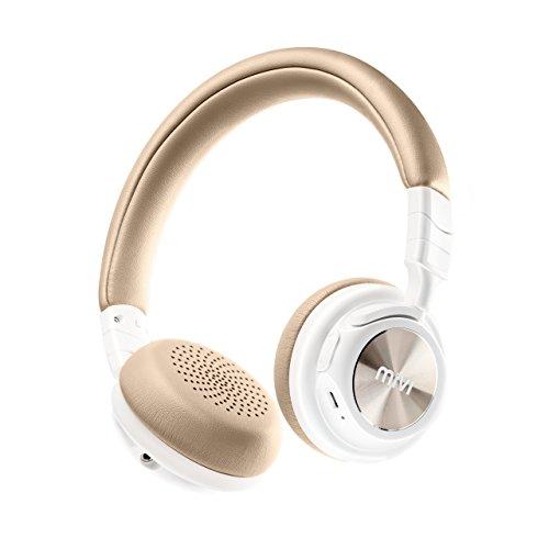 Mivi Saxo Wireless Bluetooth Headphones  Pearl White
