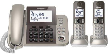 Panasonic teléfono inalámbrico y contestador automático con 2 terminales/color: plata: Amazon.es: Electrónica