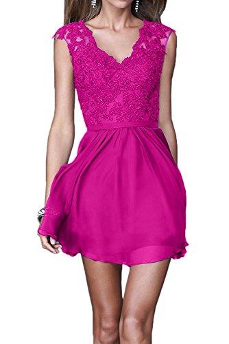 Pink Cocktailkleider La Brautjungfernkleider Spitze Festlichkleider Mini Braut Marie Gruen Abendkleider Dunkel 6wYv4q6