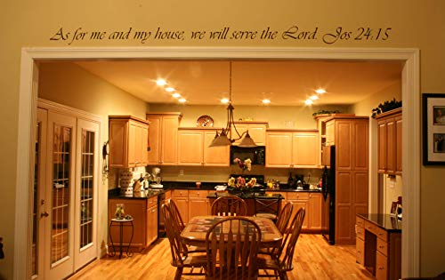 Tapestry Of Truth - Joshua 24:15 - TOT5683 - Wall and home scripture, lettering, quotes, images, stickers, decals, art, and more! - As for me and my house, we will serve the Lord. Joshua 24:15 (As For Me And My House Scripture)