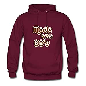 Burgundy Creative Made In The 80's Women Funny Sweatshirts X-large