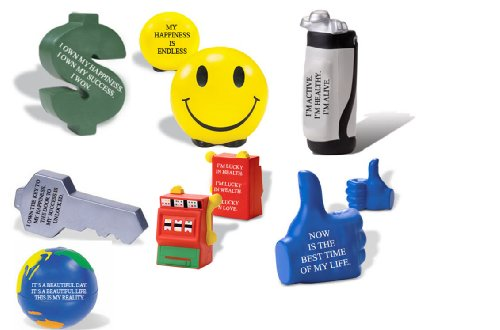 Squeezables Stress Relievers With Positive Imprint
