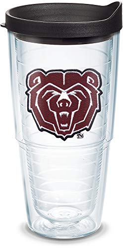 - Tervis 1062937 Missouri State Bears Logo Tumbler with Emblem and Black Lid 24oz, Clear