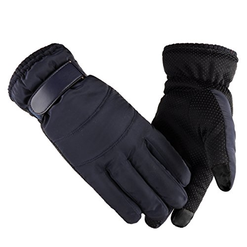 Touch Screen,Windproof and Waterproof Winter Gloves for Cycling,Riding,Skiing, Outdoor Sports,textured palms for better grip Hand Warmers