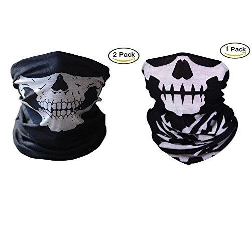 Motorrad Masken Skull 2 Stücke Xpassion Halbe Skull Gesichtsmasken für Motorrad Fahrrad Ski Lebenslange Garantie