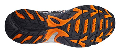 Asics Mens Gel Venture 5 Scarpa Da Corsa Nera / Arancione Shocking / Blu