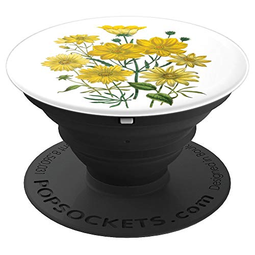 Beautiful Flowers, Blooming Yellow Daisies from the Garden - PopSockets Grip and Stand for Phones and Tablets