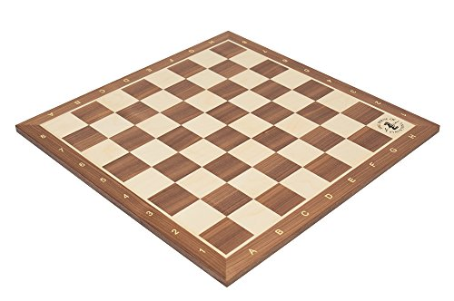The House of Staunton Walnut & Maple Wooden Chess Board - 2.25