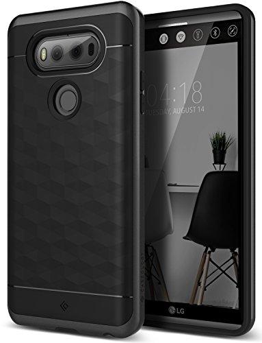 Caseology FBA_CO-V20-ARM-BKLG V20 Case, [Parallax Series] Slim Dual Layer Protective Textured Geometric Cover Corner Cushion Design for LG V20 (2016) - Black