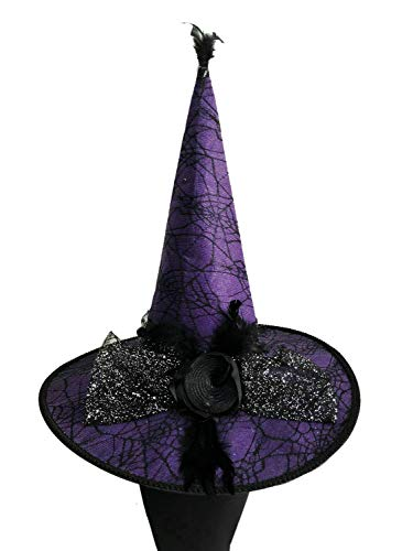- Naray Halloween Costumes Women's Feather Deluxe Adult Witch Hat