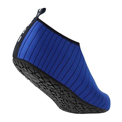 JOINFREE Damen Herren Kid Sommer Wasser Schuhe Barfuß Schuh Quick Dry Aqua Socken Yoga Linie blau