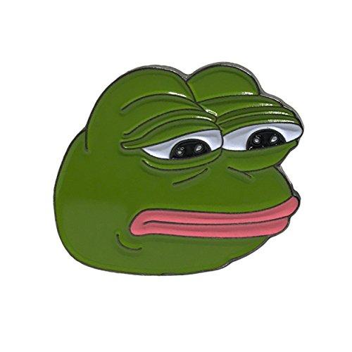 Internet Meme Costume Ideas (Sad Frog Face Lapel Pin - Pepe The Frog Brooch - Kuk Keku Kekistan Clip)
