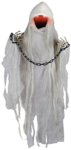 Animated Ghost (Animated Faceless Ghost with Light Up Eyes and Sounds Halloween)