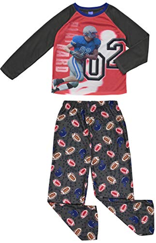 Boys Pajama Long Sleeve Football Little Kid & Toddler Pjs Sleepwear Set (2T-14) -