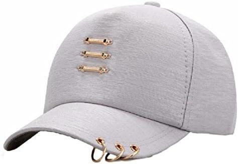 [kuro&Ardor] 帽子 キャップ つば リング ピアス ワンポイント 無地 男女兼用 カジュアル ストリート系 白 黒 グレー ピンク
