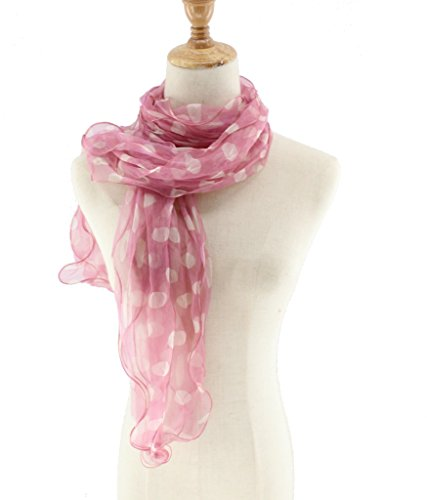 Voile Dot (Jiao Miao Womens 3 layers Dot Long Silk Voile Scarves Scarf ,170803-06)