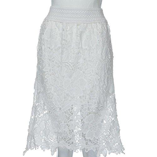 Dress de Ceinture sac Mini Blanc Courtes Hip Crayon Moulante Dentelle Mini Jupe Sexy Haute Ladies Ansenesna Jupe Jupe Couture Jupes Femmes en Hem Stretch Jupe Elastique Dentelle Robe Taille ZwA1q
