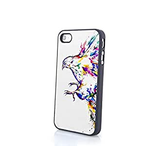 Generic PC Phone Cases Colorful Vivid Cute Bird Matte Pattern fit for 3D Comic iPhone 4/4S Cases