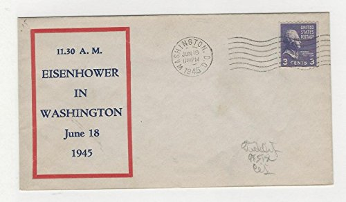 United States, Postage Stamp, Cover Eisenhower 1945, Washington DC