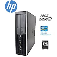 HP Elite 6300 SFF Small Form Factor Business Desktop Computer, Intel Quad-Core i7-3770 up to 3.9Ghz CPU, 16GB RAM, 256GB SSD, DVD, USB 3.0, Windows 10 Professional (Certified Refurbished)