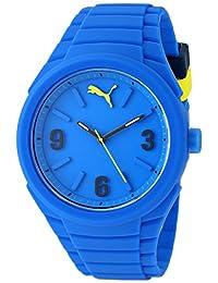 PUMA Unisex PU103592003 Gummy Analog Display Analog Quartz Blue Watch