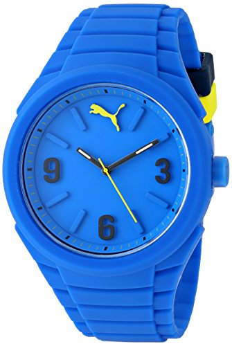 PUMA Unisex PU103592003 Gummy Analog Display Analog Quartz Blue Watch