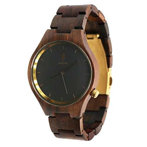 Hstyle Fashion Men's Handmade Chocolate Wooden Watches Unique Natural Wood Watches with Sapphire Glass …