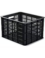 Basil Crate M Fietskist voor volwassenen, uniseks, zwart, 40 cm x 33 cm x 25 cm