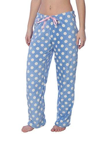 Trousers Pajama (Active Club Fleece Lounge Plaid Pajama Pants For Women - Adjustable Waistband)