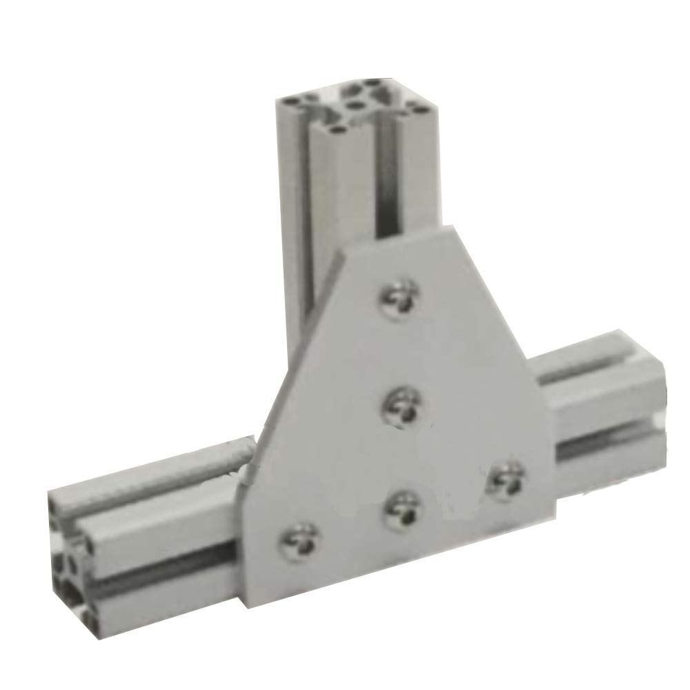 Gimax Aluminium Material Joint Board Plate Corner Angle Bracket Connection Joint Strip for Aluminum Profile 20/30/40/45 with 5 Holes - (Color: 4545T-5hole) by GIMAX (Image #2)