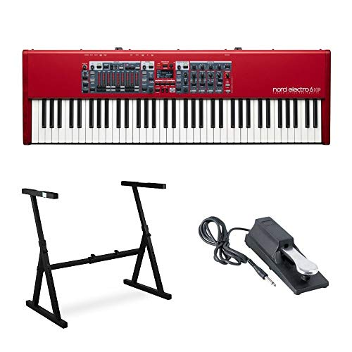 Nord Electro 6HP Keyboard with 73-Key Hammer-Action Keybed & Nine Drawbars Includes Knox Z-Syle Stand and Sustain Pedal