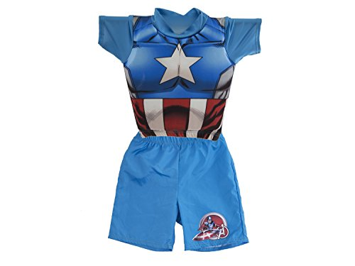 SwimWays Deluxe Float Shorty, Captain America, Small/Medium