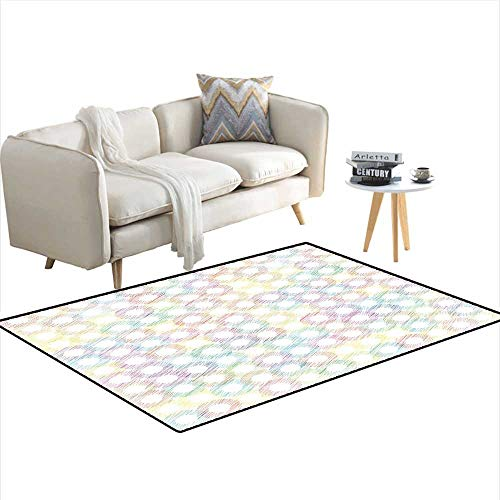 Carpet,Grunge Colorful Disc Shaped Circles Background New Distressed Concept Art Graphic,Indoor Outdoor Rug,Multicolor (Union Distressed Belt)