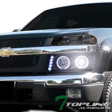 Topline autopart 6000 K HID Xenon negro Halo LED proyector faros ...