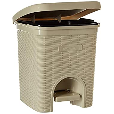 Signoraware Modern Lightweight Dustbin for Home and Office 12Ltr, Beige 9