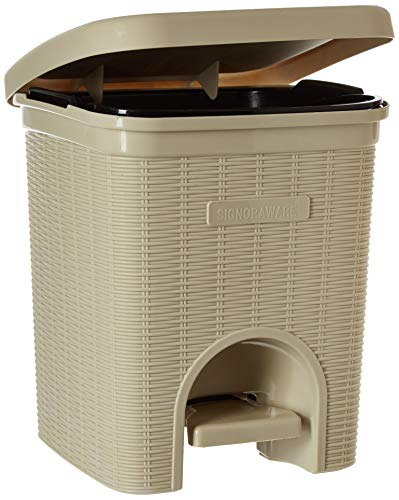 Signoraware Modern Lightweight Dustbin for Home and Office 12Ltr, Beige 2