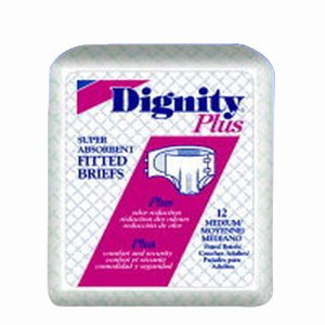 Dignity Plus Fitted Briefs (Dignity Plus Adult Fitted Brief 2X-Large 63