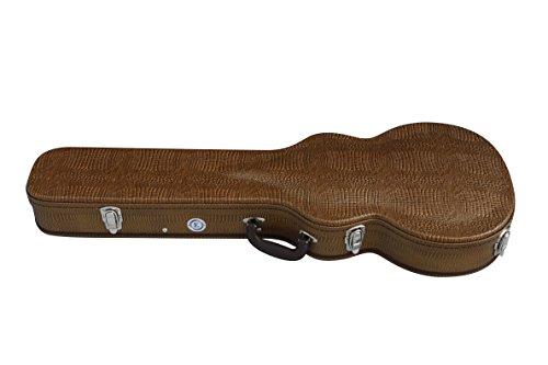 Allen Eden Copper Alligator Skin Hard Shell Acoustic Guit...
