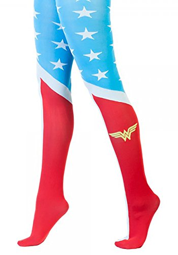 [DC Comics Wonder Woman Suit Up Costume Sheer Tights] (Comic Cosplay Costumes)