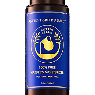 Organic Facial and Body butter Cream. Made of Almond, Olive, Castor, Vitamin E, Lavender oil. Anti Aging lotion for Face, Skin, Hair, Dry Hands, Cuticle. Day and Night Moisturizer for Men and Women