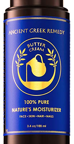 Organic Butter Cream, Daily Moisturizer for Dry Face, Hair, Skin, Hand, Scalp, Cuticle, Nail and Beard Care, Anti Aging Wrinkle Night Treatment, Best Natural Under Eye Facial Balm for Men and Women