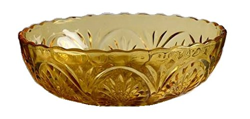 (Anchor Hocking Medallion Honey Gold Glass (8