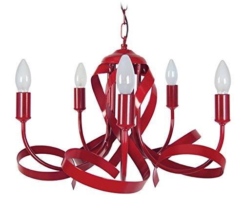 Lampadari Plafoniere Rosse : Tosel monaco lampadario acciaio ferro vernice epossidica